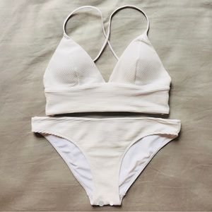 H&M white bikini set